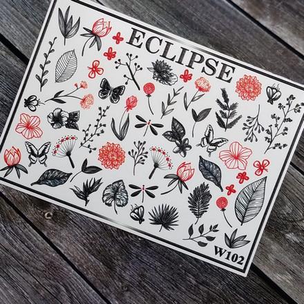 Купить Eclipse, Слайдер-дизайн для ногтей W №102