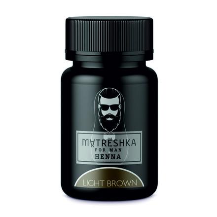 Matreshka, Хна в капсулах для бровей и бороды, Light brown, 30 шт