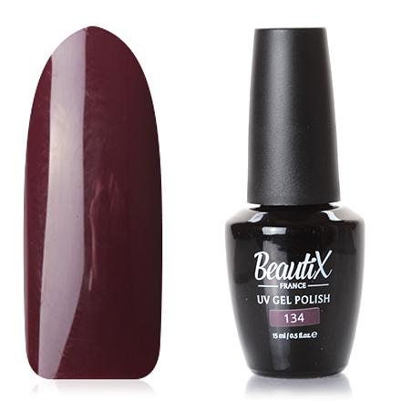 Beautix, Гель-лак № 134, 15 млBeautix<br>Гель-лак (15 мл) цвета спелой вишни, без перламутра и блесток, плотный.<br><br>Цвет: Красный<br>Объем мл: 15.00