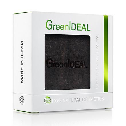 Купить GreenIDEAL, Мыло ручной работы «Черное», 100 г