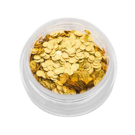 Купить TNL, Пайетки для ногтей «Кошачий глаз» - золото №2, TNL Professional