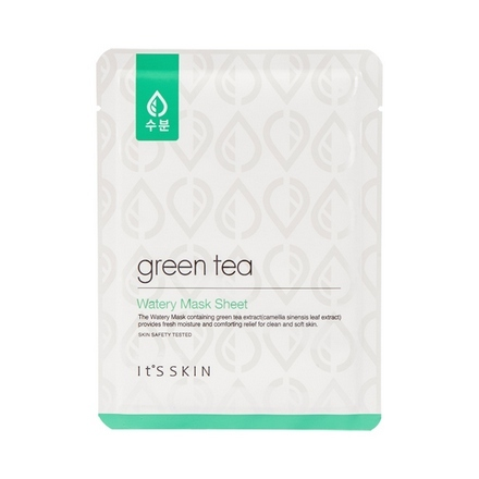 It's Skin, Тканевая маска с зеленым чаем Green Tea Watery маска it s skin green tea watery mask sheet 1 шт