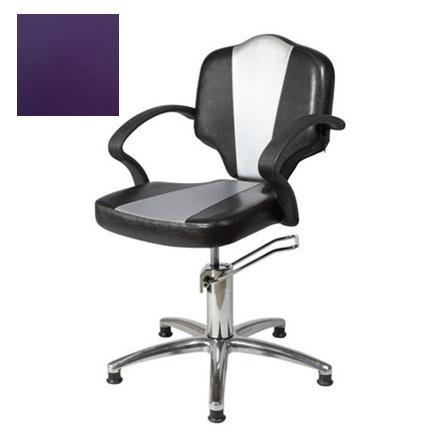 Купить Мэдисон, Кресло парикмахерское «Мона модерн» гидравлическое, хромированное, фиолетовое