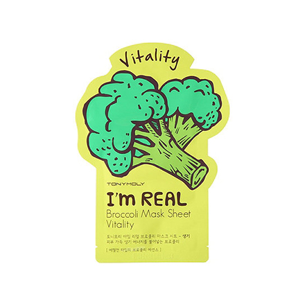 Tony Moly, Тканевая маска для лица I'm Real Broccoli Mask Sheet tony moly sheet gel mask pureness 100 pearl маска тканевая с экстрактом жемчуга 21 мл
