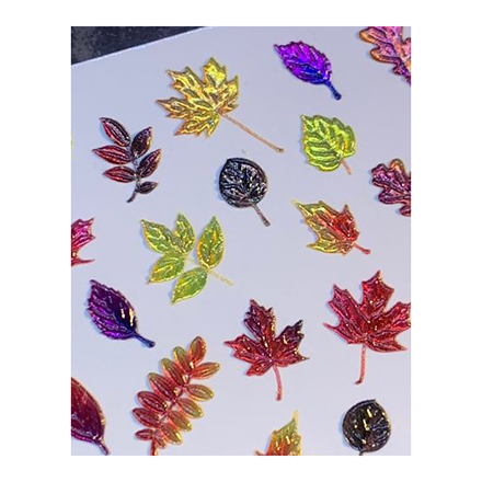 AnnaTkacheva,3D-слайдерCrystal№685 «Осень. Листья» фото