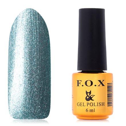 Купить FOX, Гель-лак Platinum №006, F.O.X, Синий