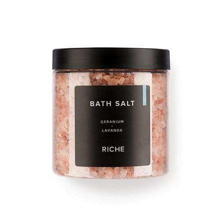 Riche, Соль для ванн «Лаванда + герань», 680 г