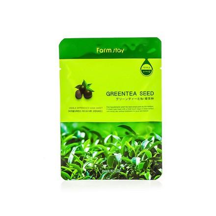 FarmStay, Маска с натуральным экстрактом семян зеленого чая, 23 млМаски<br>Тканевая маска для улучшения цвета лица и восстановления упругости кожи.