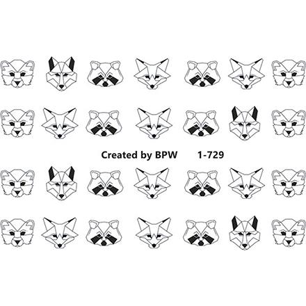 BPW.Style, Слайдер-дизайн «Животные» №1-729Слайдер-дизайн<br>Слайдер для создания дизайна на ногтях.