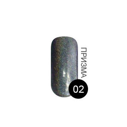 TNL, Перламутровая пыль №2, темно-серый голографик