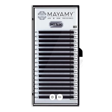 Купить MAYAMY, Ресницы на ленте Mink Mix, D-изгиб, 0, 10 мм