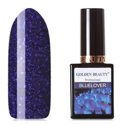 Bluesky, Гель-лак Golden Beauty Bluelover №12Bluesky Шеллак<br>Гель-лак (14 мл) глубокий синий, с синими блестками и лиловыми микроблестками, плотный.<br><br>Цвет: Синий<br>Объем мл: 14.00