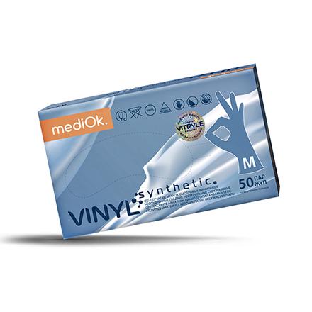 Купить MediOk, Перчатки виниловые, размер М, 100 шт.