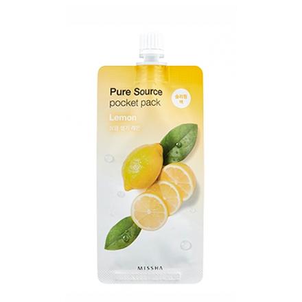 Купить Missha, Маска для лица Pure Source Lemon, pocket pack, 10 мл