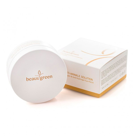 BeauuGreen, Гидрогелевые патчи для глаз Collagen&Gold, 60 шт.