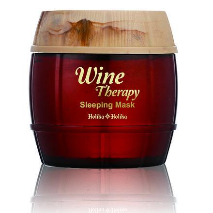 Holika Holika, Ночная маска-желе Wine Therapy, с красным вином, 120 мл holika holika маска желе винная ночная белое вино вайн терапи wine therapy sleeping mask white wine 120мл