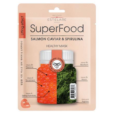 Купить Estelare, Маска для лица Superfood «Икра лосося и Спирулина», 25 г