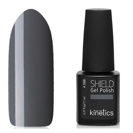Kinetics, Гель-лак Shield №388, Wrap it upKinetics<br>Гель-лак (11 мл) базальтово-серый, без перламутра и блесток, плотный.