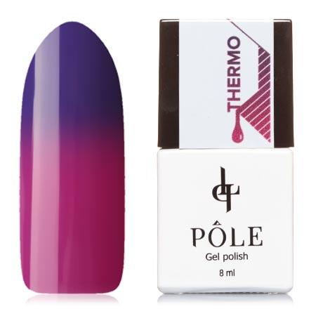 POLE, Гель-лак  №14, виноградный и маджентаPOLE<br>Гель-лак термо (8 мл) фиолетовый/пурпурно-розовый, без перламутра и блесток, плотный.<br><br>Цвет: Фиолетовый<br>Объем мл: 8.00