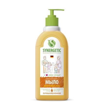 Купить Synergetic, Жидкое мыло «Фруктовый микс», 500 мл