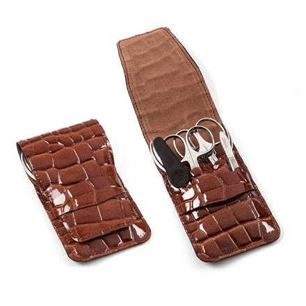 Zinger, Маникюрный набор, MS-FZ2-S, коричневый