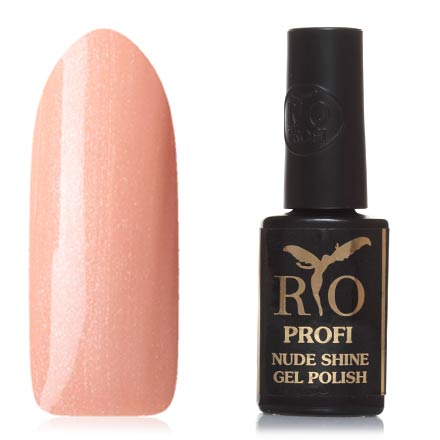 Rio Profi, Гель-лак Nude Shine №02, Мисс БезупречностьRio Profi<br>Гель-лак (7 мл) золотисто-бежевый, с микроблестками, плотный.