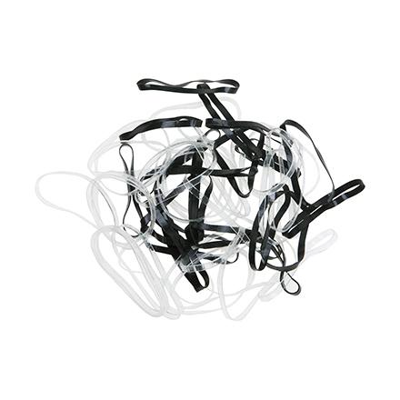 Dewal, Резинки для волос Mini, силиконовые, черные и белые, 50 шт. фото