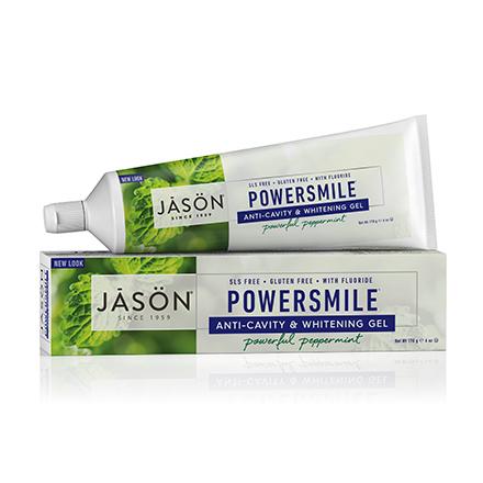 Купить JASON, Гелевая зубная паста Powersmile Anti-Cavity&Whitening, 170 г, JASON (JĀSÖN)