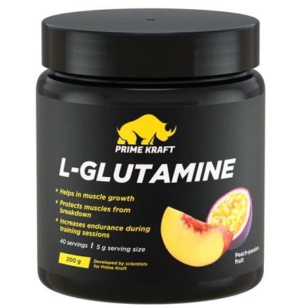 Prime Kraft, L-Glutamine, со вкусом персика и маракуйи, 200 г