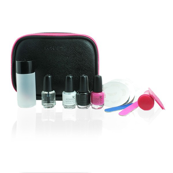 Konad, набор для стемпинга Travel Kit повседневный лак konad regular nail polish konad psyche green