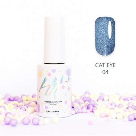 Купить HIT Gel, Гель-лак Cat Eye №04, Синий