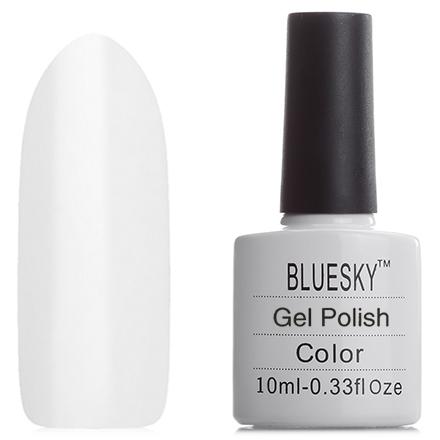 Bluesky, Гель-лак №40501/80501 Cream PuffBluesky Шеллак<br>Гель-лак (10 мл) яркий белый, подходит для французского маникюра, плотный.<br><br>Цвет: Белый<br>Объем мл: 10.00