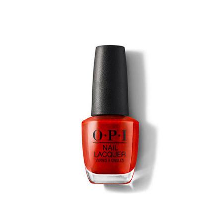 Купить OPI, Лак для ногтей Classic, Gimme A Lido Kiss, Красный
