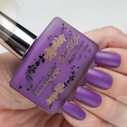 El Corazon, Matte Effect, № 120 16 млEl Corazon <br>Светло-фиолетовый, без блесток и перламутра, матовый, плотный.<br><br>Цвет: Фиолетовый<br>Объем мл: 16.00