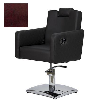 Купить Мэдисон, Кресло парикмахерское «МД-166» гидравлическое, хромированное, бордово-черное