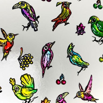 AnnaTkacheva,3D-слайдерCrystalHT№446 «Птицы. Птички» фото