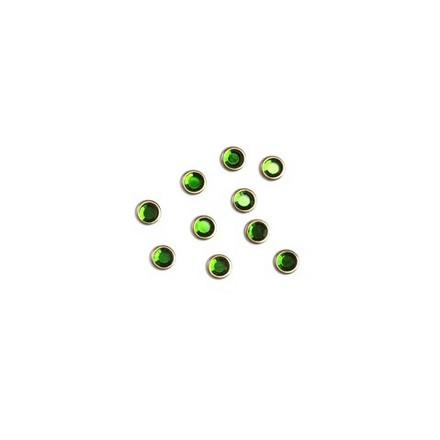 Lianail, Стразы 6 мм, Зеленые