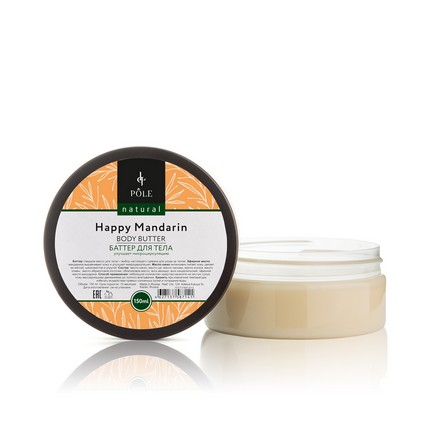 Pole, Баттер для тела Happy MandarinМасла для тела<br>Твердое масло для увлажнения кожи (150 мл). Улучшает микроциркуляцию.