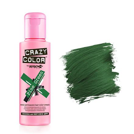 Crazy Color, Краска для волос №46, Pine GreenКраска для волос<br>Цвет: елово-зеленый. Объем: 100 мл.