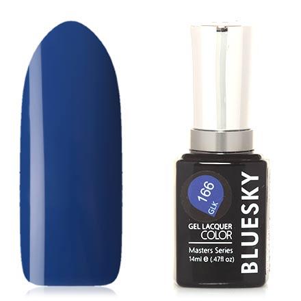 Bluesky, Гель-лак Masters Series №166Bluesky Шеллак<br>Гель-лак (14 мл) кобальтовый, без перламутра и блесток, плотный.
