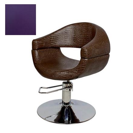 Купить Мэдисон, Кресло парикмахерское «МД-108» гидравлическое, хромированное, фиолетовое