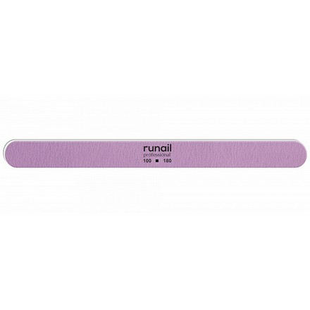 Купить RuNail, Пилка для искусственных ногтей, сиреневая, закругленная, 100/180