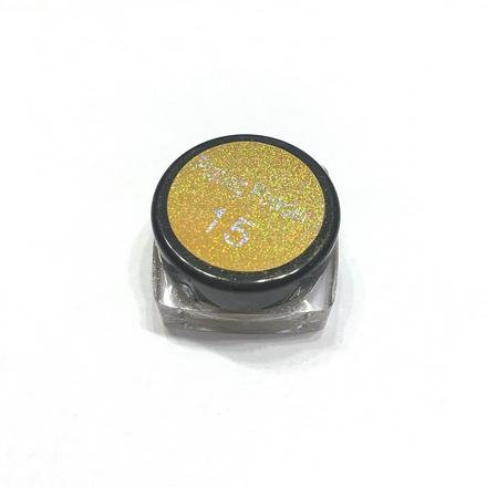 Bluesky, Втирка «Зеркальный блеск» №15, темно-золотаяВтирка для ногтей<br>Зеркальная пудра для придания металлического блеска ногтям (4 г).<br>