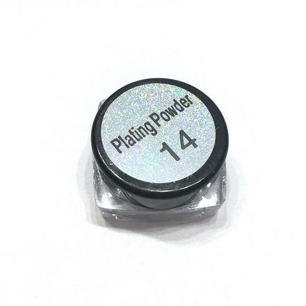 Bluesky, Втирка «Зеркальный блеск» №14, серебряный металликВтирка для ногтей<br>Зеркальная пудра для придания металлического блеска ногтям (4 г).<br>