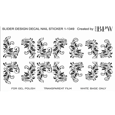 BPW.Style, Слайдер-дизайн «Вензеля» №1-1349Слайдер-дизайн<br>Слайдер для создания дизайна на ногтях.<br>