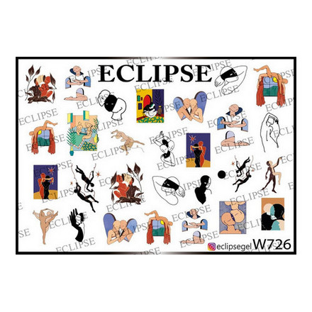 Купить Eclipse, Слайдер-дизайн для ногтей W №726
