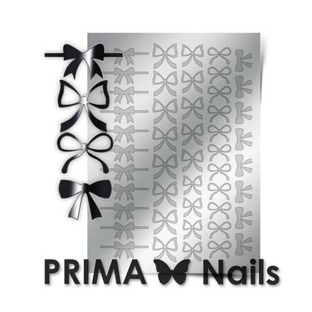 Prima Nails, Металлизированные наклейки PR-001, серебро