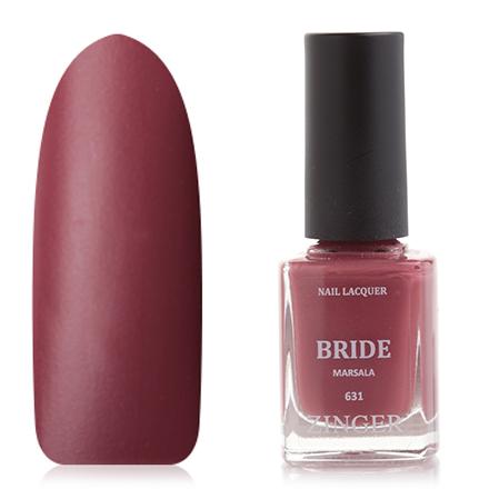 Zinger, Лак для ногтей Bride, цвет Marsala