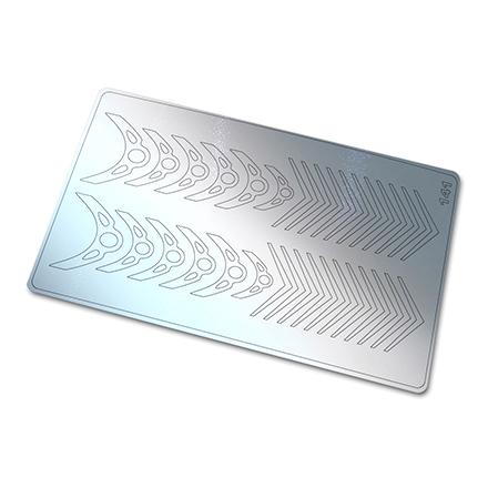 Купить Freedecor, Металлизированные наклейки №141, серебро