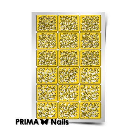 Купить Prima Nails, Трафареты «Лепестки», золотые